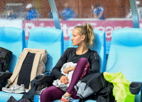 heptathlon athlete sarah van beilen in sweden wearing pure by luce